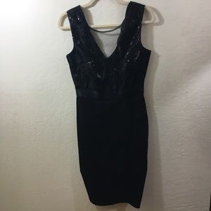 GODDIVA Black Sequin Dress size 8